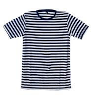Kaos Stripe NAVY PUTIH Cotton Rayon - kaos belang murah bandung - kaos stripe Hitam Putih
