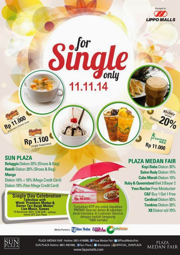 Singles' Day di Plaza Medan Fair dan SUN Plaza