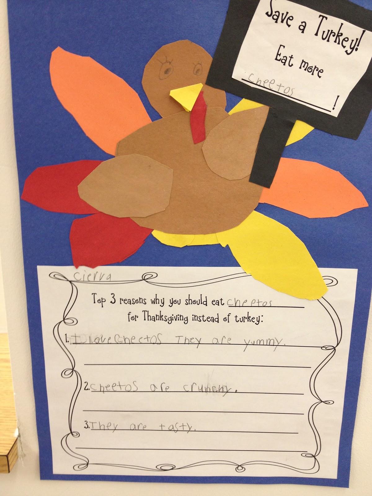 First Grade Smiles Turkeys On Strike