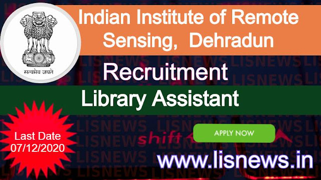 Library Assistant at Indian Institute of Remote Sensing