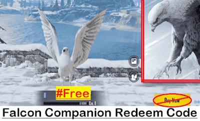 Get PUBG Mobile Redeem Code for a Free Falcon Companion