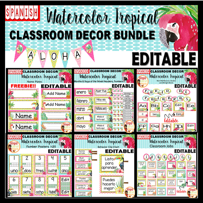 Classroom decor in Spanish is everything you need to get your classroom looking great!