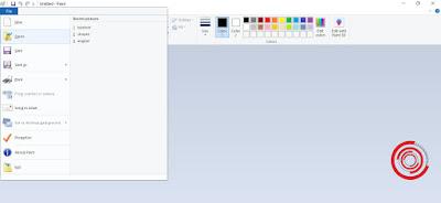 1. Langkah pertama silakan kalian buka aplikasi Paint lalu pilih Open atau Copy objek yang ingin di crop