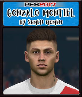 PES 2017 Faces Gonzalo Montiel by Sameh Momen
