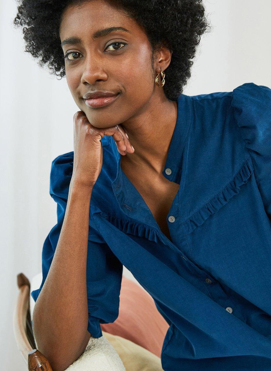 my midlife fashion, Baukjen becca organic blouse