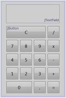 Desain kalkulator sederhana di netbeans