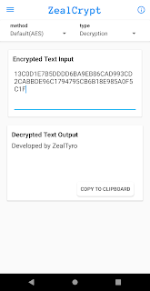 ZealCrypt - Encryption And Decryption App