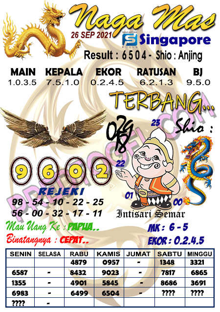 Syair Nagamas SGP Sabtu 25 September 2021