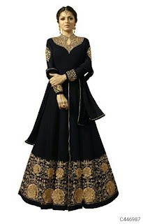 Pretty Georgette Embroidered Anarkalis Suits