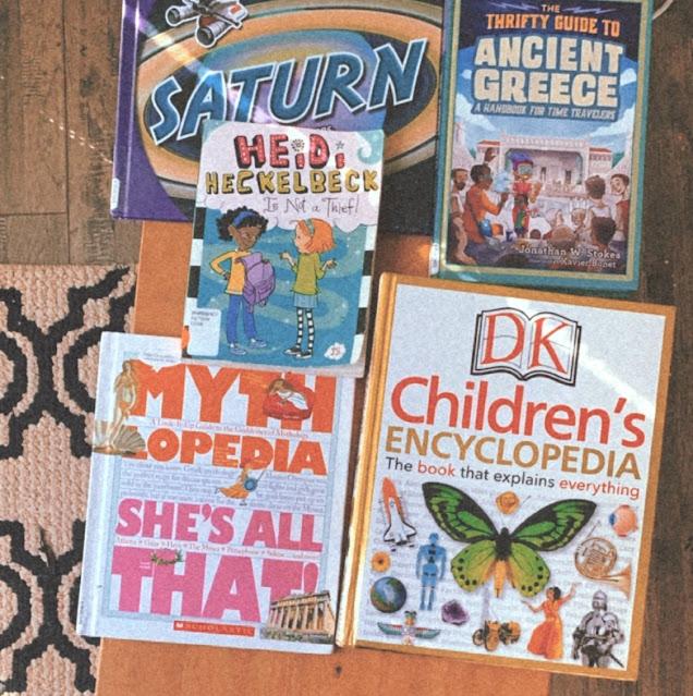 kids library haul