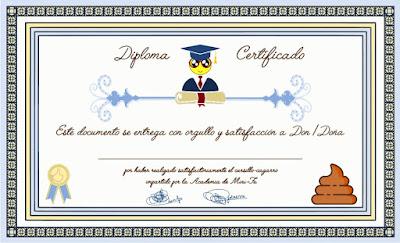 Diploma Certificado de Mini-Fu