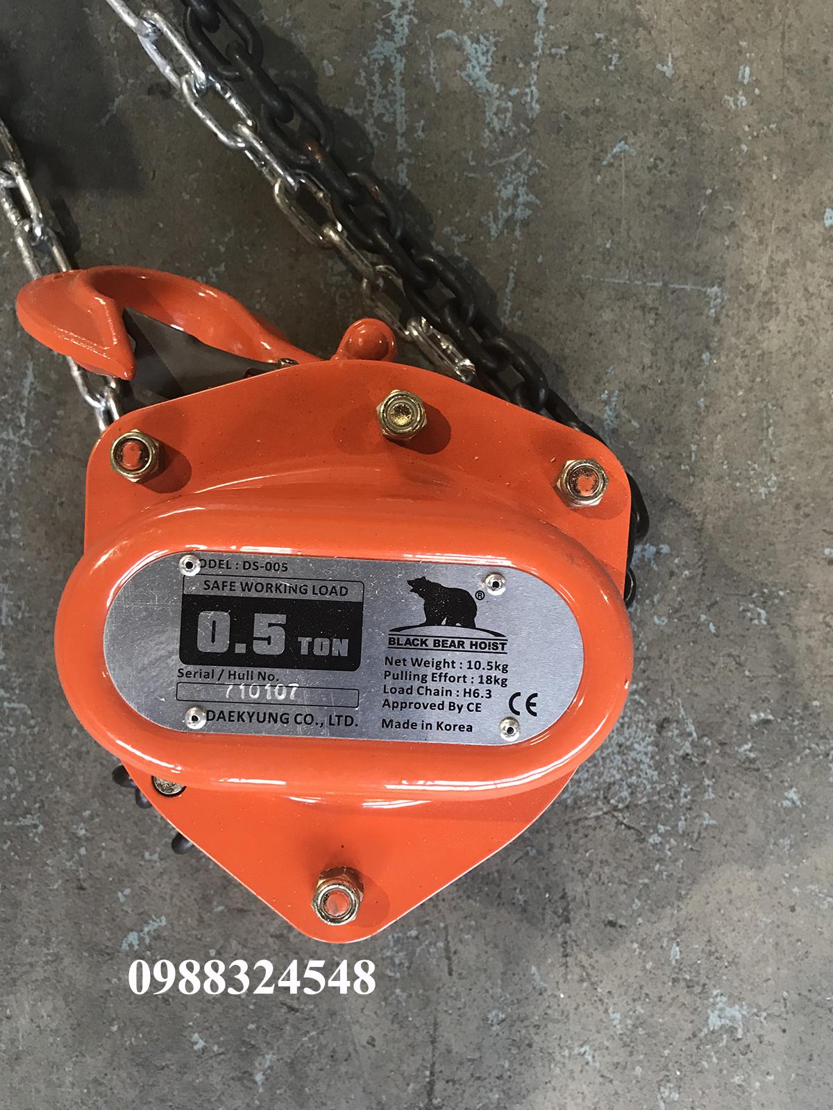 palang kéo tay Daekyung DS005 500kg