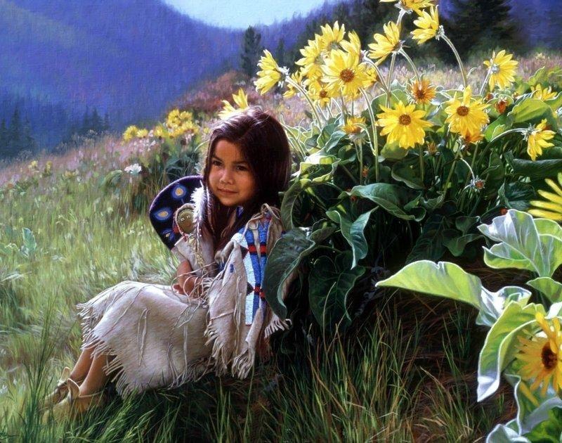 karen noles 1947 native american paintings tutt'art@ (54)