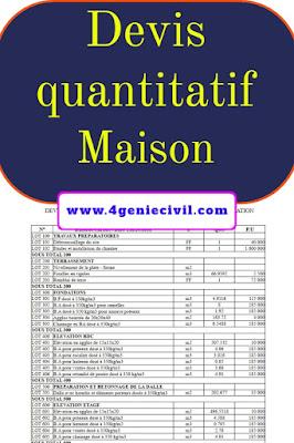devis quantitatif estimatif bâtiment pdf