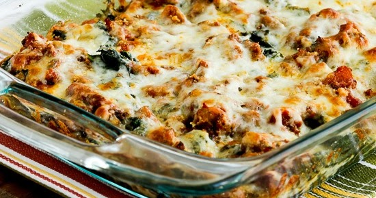Kalyn's Kitchen®: Low-Carb Sausage and Kale Mock Lasagna Casserole