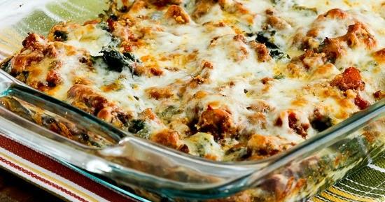 Kalyn's Kitchen®: Low-Carb Sausage and Kale Mock Lasagna ...