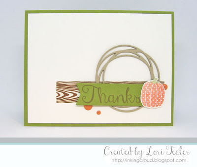 Fall Inspired Thanks card-designed by Lori Tecler/Inking Aloud-stamps and dies from Reverse Confetti