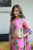 Actress Angela Krislinzki in Pink Saree Blouse Exclusive Pics March 2017 ~  124.JPG