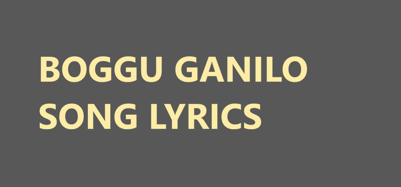 Boggu Ganilo song lyrics from world famous lover movie