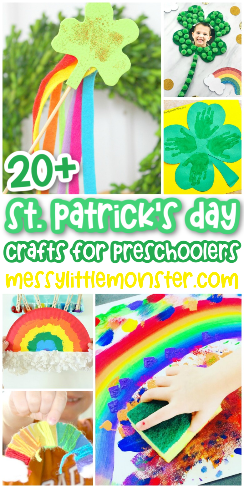 20 easy St Patrick's Day crafts for preschoolers.