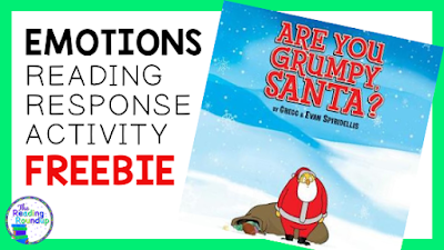 "Are you looking for a fun Christmas read aloud? Students will LOVE the book ""Are You Grumpy Santa?"" and the engaging FREE reading response activity from The Reading Roundup."