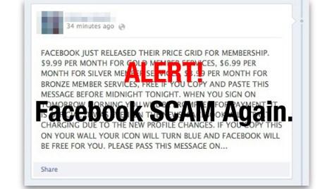 facebook price grid