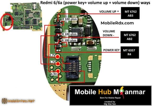 4 Step Repair Power Key And Volume Key Xiaomi Redmi 6A