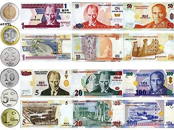 günümüzde kullanılan türk paraları