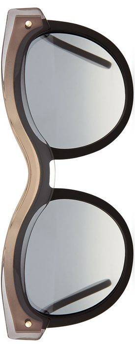 Salvatore Ferragamo Universal Fit Rounded Translucent-Brow Sunglasses