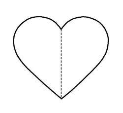 Plantilla para llavero corazón