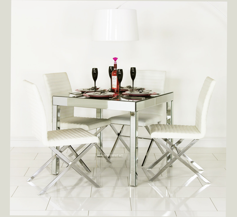 Mirrored Dining Table Sets ~ Mirrored dining table for room best ellecrafts