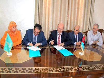 رئيس جامعة ال البيت يوقع اتفاقية مع منظمة الأورو عربية لأبحاث المياه