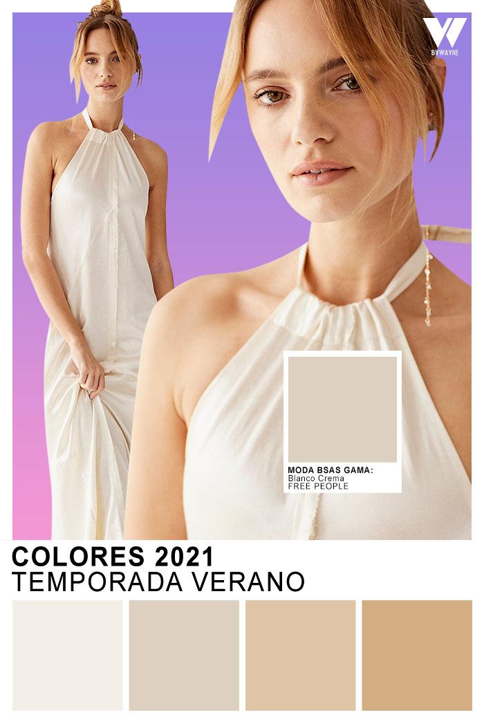 Moda colores verano 2021 Moda colores Blanco Crema
