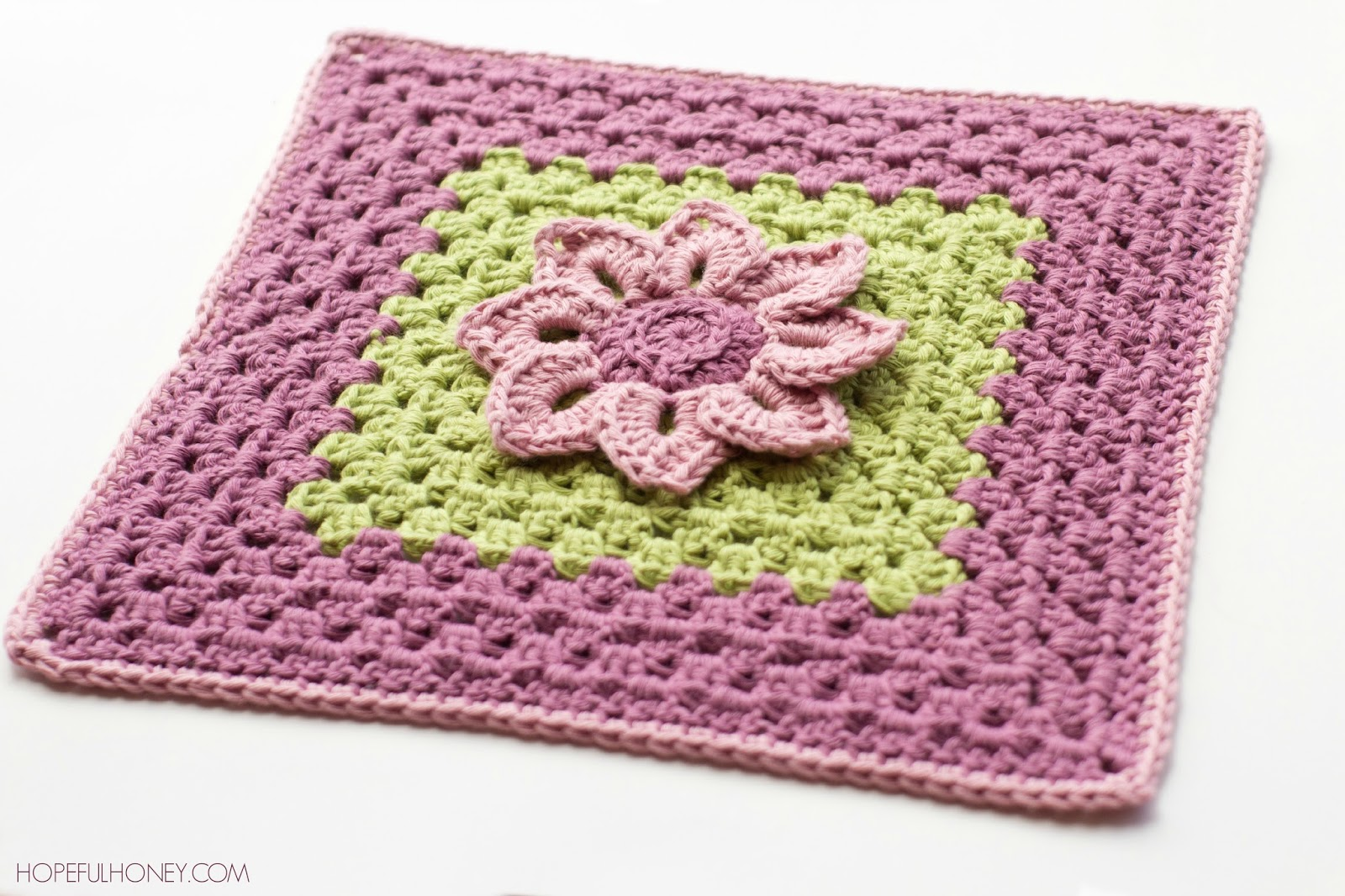 Crochet Pattern Square : Hopeful Honey Craft, Crochet, Create: Water Lily Afghan ...