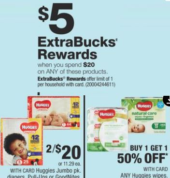 Huggies cvs deals