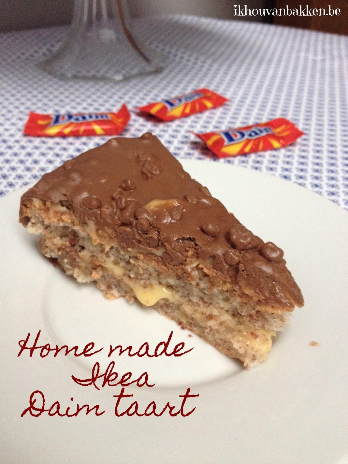 Ik hou van bakken: Home made Ikea Daim taart (glutenvrij) Almondy Daim Taart Recept