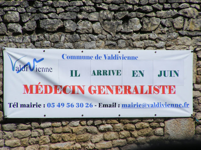 Banner welcoming a new village doctor, Vienne, France. Photo by Loire Valley Time Travel.