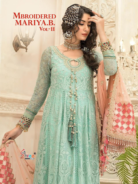Shree fab Mbroidered mariya b vol 11 pakistani suits