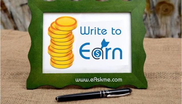 Earn Money with eAskme (Write to Earn Program): eAskme