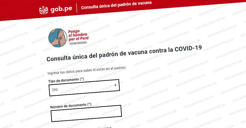 MINSA: Padrón oficial de adultos mayores entre 63 y 64 años que serán vacunados este 31 de Mayo [INGRESA TU DNI] www.pongoelhombro.gob.pe