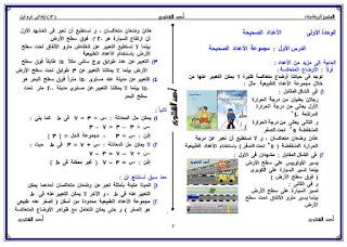 مذكرة رياضيات للصف السادس الابتدائى الترم الثانى للاستاذ احمد الشنتوري