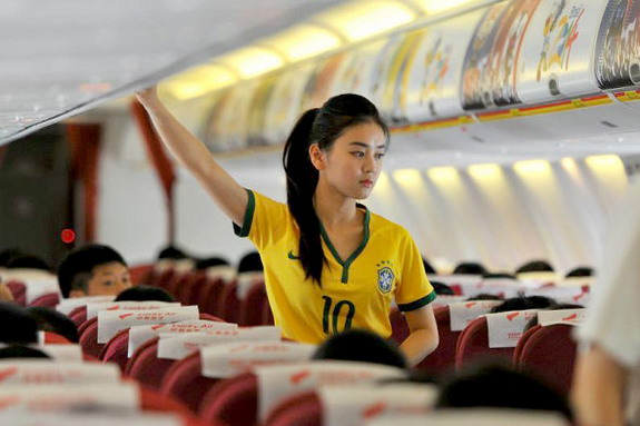 World Cup fever hits Chinese airline Lucky Air