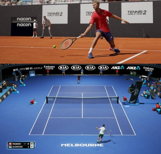 Differences between Tennis World Tour 2 vs AO Tennis 2 Graphics