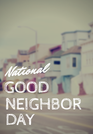 National Neighbor Day Wishes Beautiful Image
