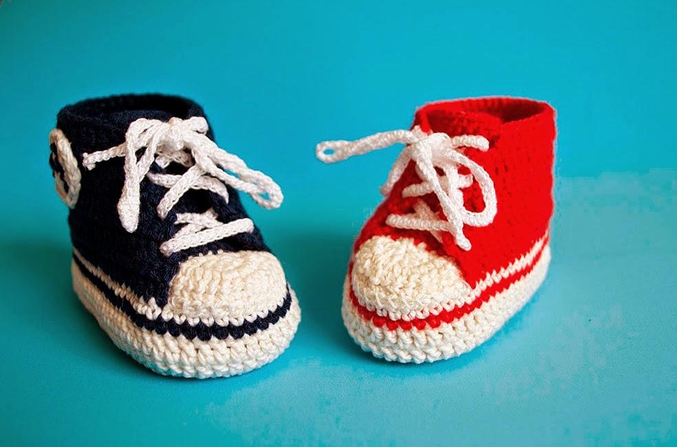 Zapatillas Converse de ganchillo