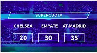 Mondobets supercuota Chelsea vs Atletico 17-3-2021
