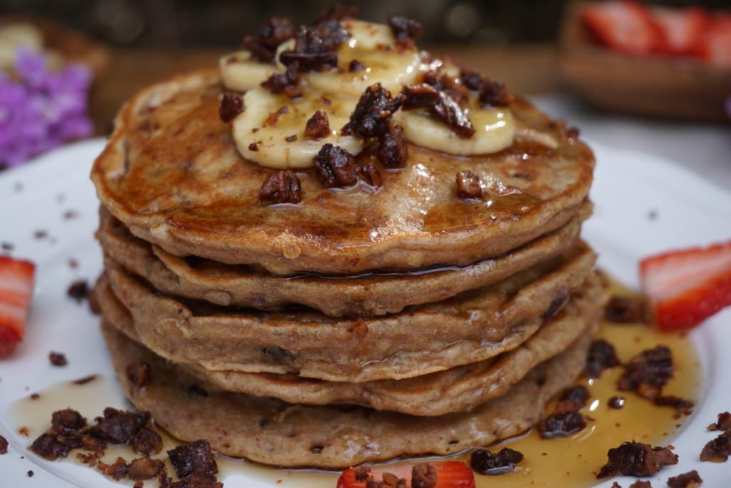 Banana Pecan Pancakes