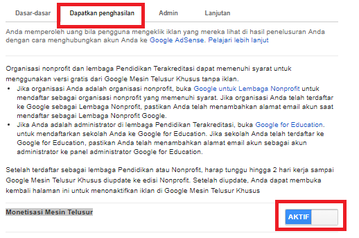 Cara Membuat Google Search Custom Untuk Menaikkan Eraning Adsense