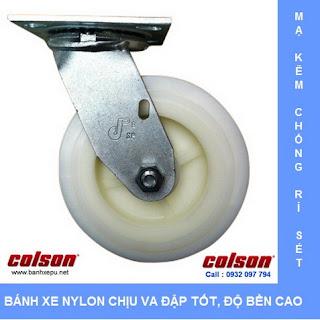 Bánh xe Nylon công nghiệp chịu tải nặng 370kg | S4-6209-829 www.banhxepu.net