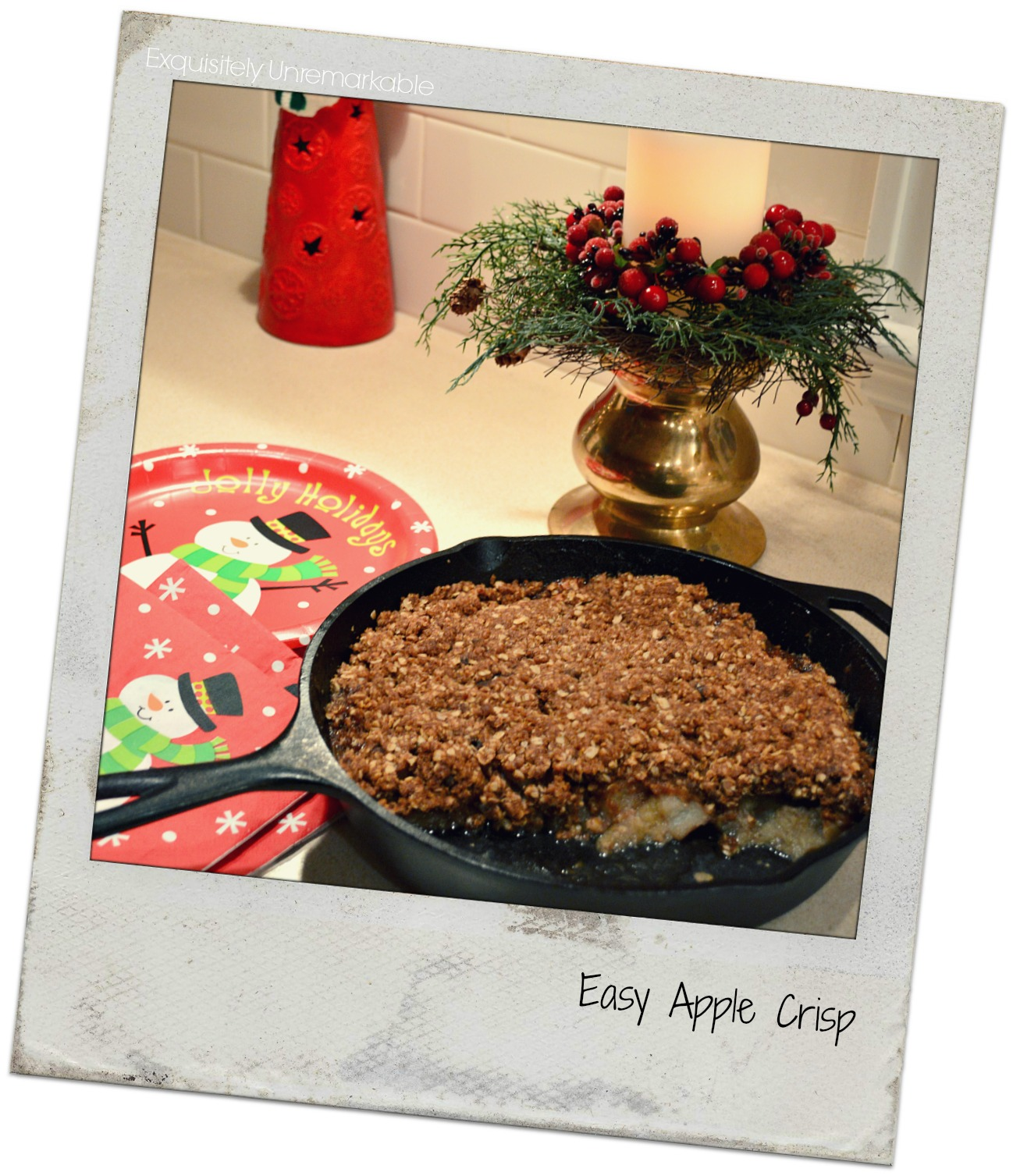Cast Iron Pan Apple Crisp Recipe